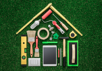 Tools forming a house