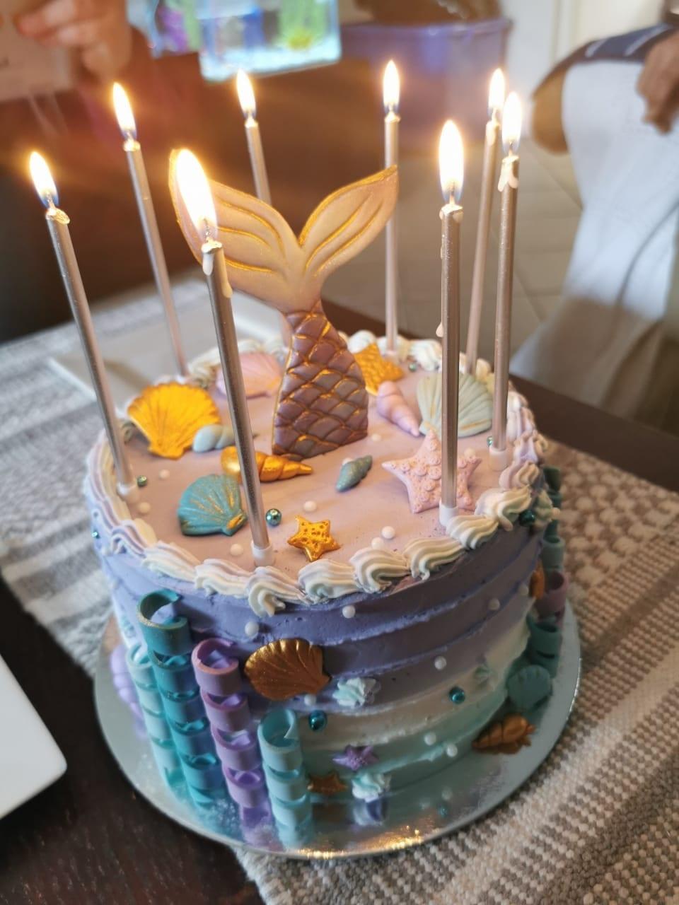 Mermaid birthday cake by Koek met 'n Verskil