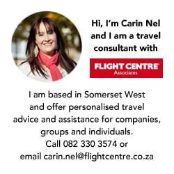 Flight Centre Carin Nel advertisement