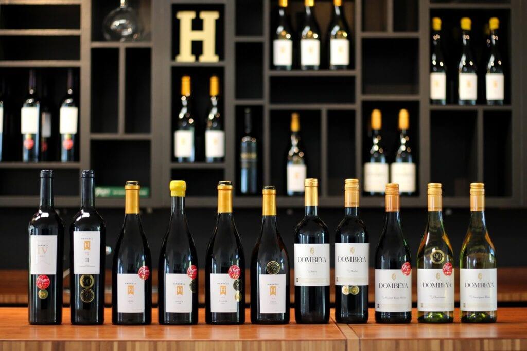 Bottles of Haskell Vineyards's wine