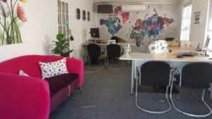 Interior of Travel BONBON travel agency in Somerset West