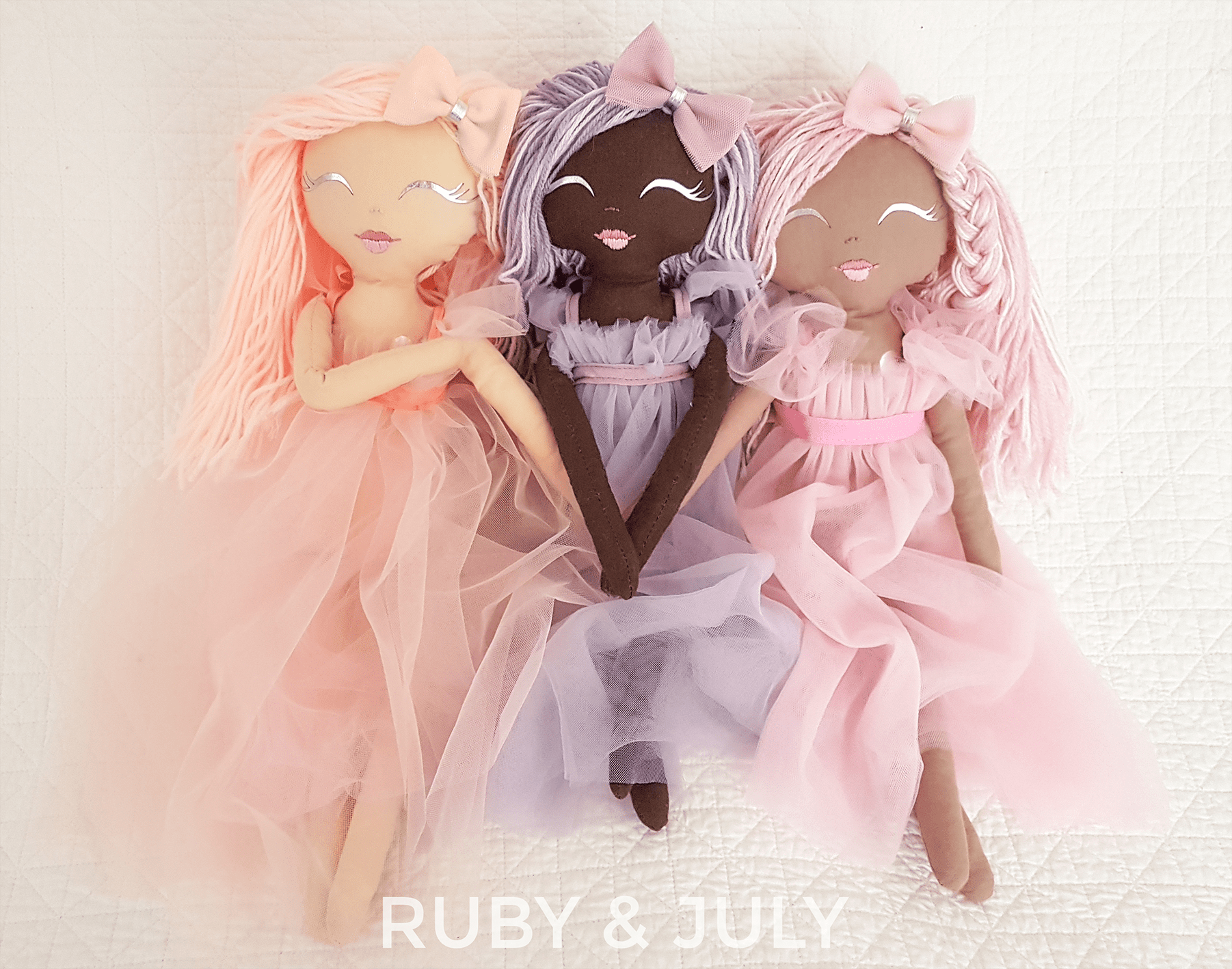 Handmade dolls by Ruby and July