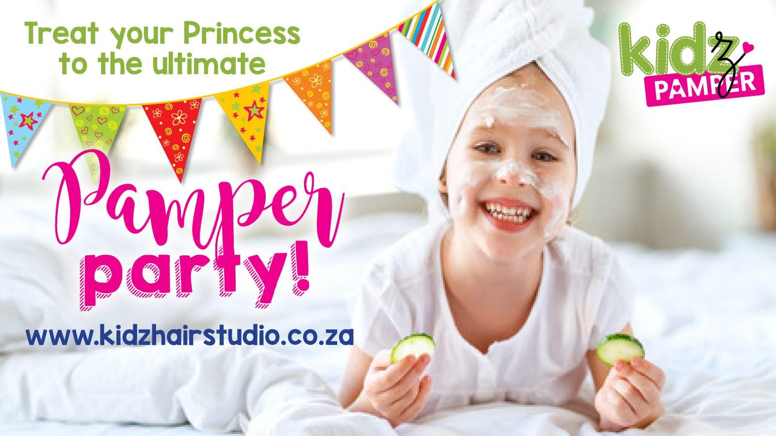 Kids Hair Studio pamper party advertisement