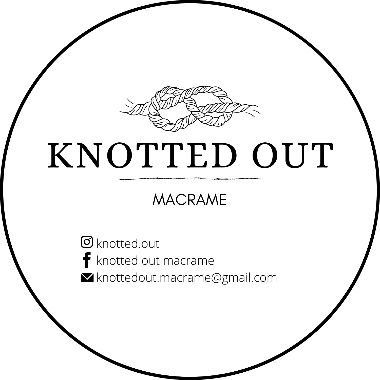 Knotted Out Macrame logo