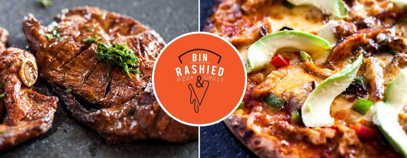 Bin Rashied Pizza and Grills's meat and pizza made in Strand
