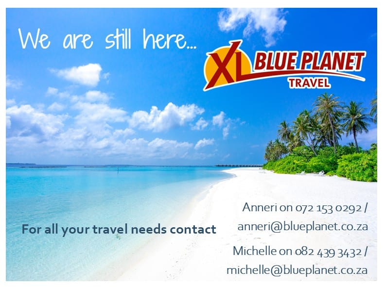 XL Blue Planet Travel feature image with tropical island
