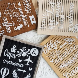 Custom wooden letterboards made by local decor brand Nonki