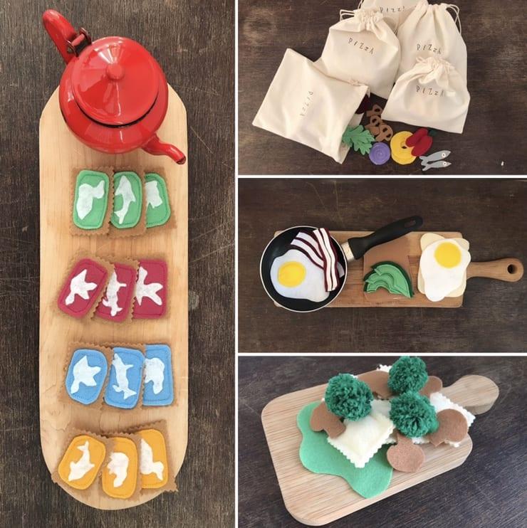 Handmade felt toys for kids made by Zaaivrouw