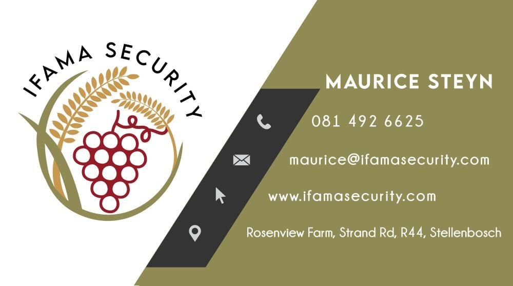 IFAMA Security business card