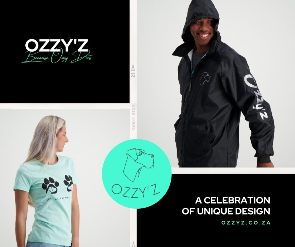Ozzy'z feature image showing a young woman in a blue t-shirt and a young man in a black hoodie
