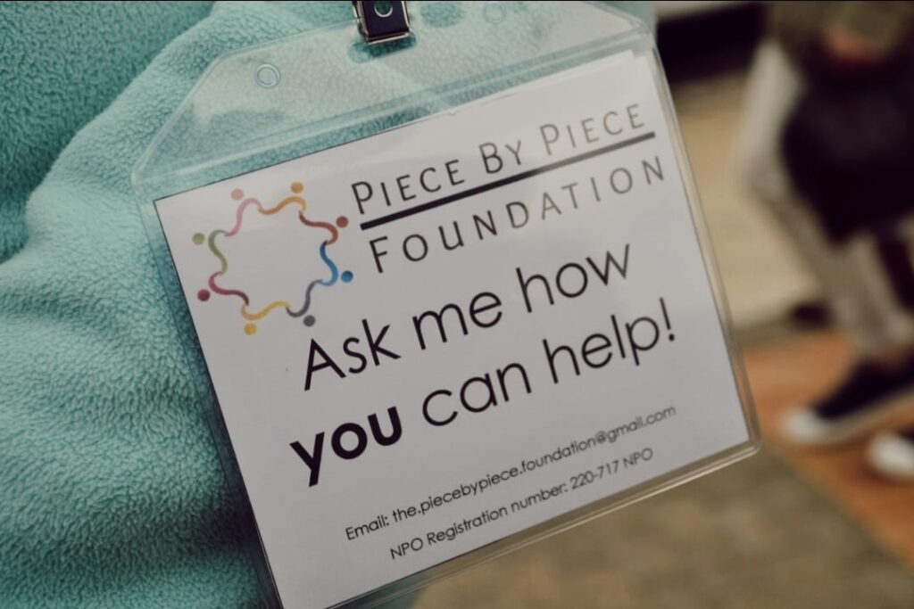 Piece by Piece Foundation volunteer card