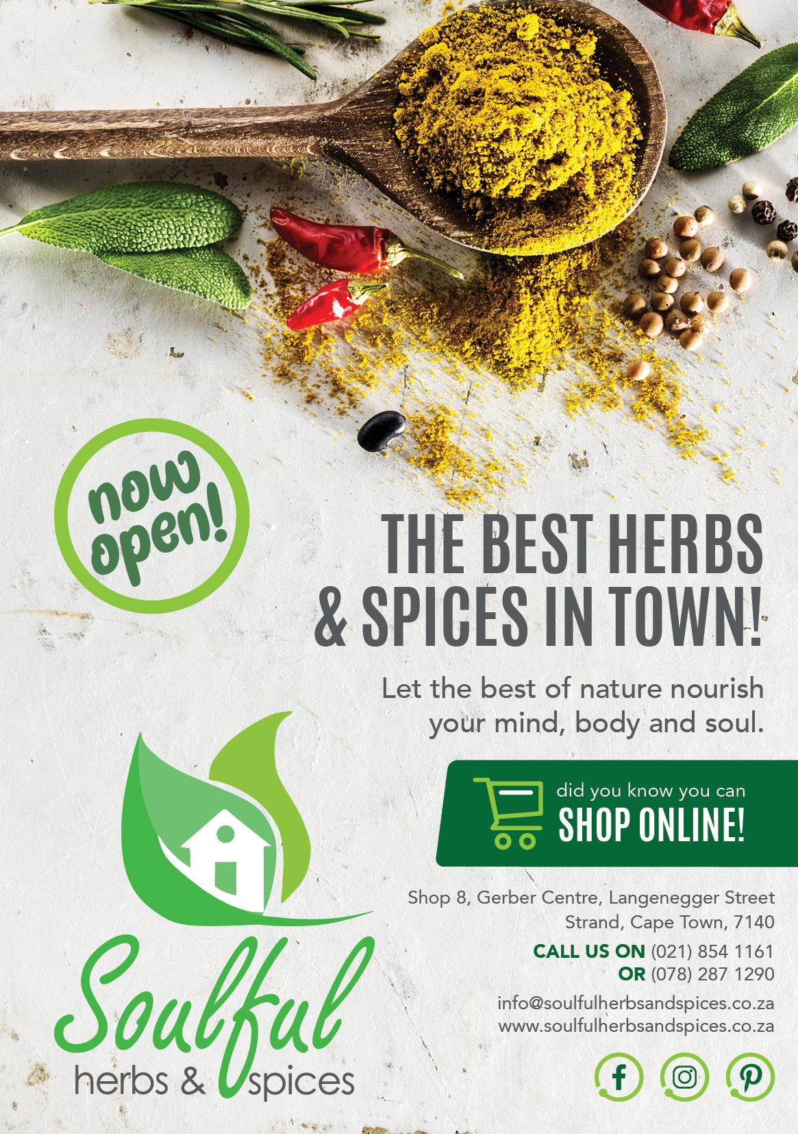 Soulful Herbs and Spices flyer